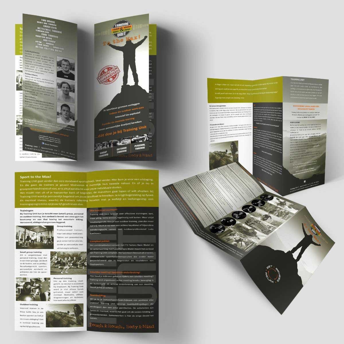 Grafisch ontwerp, DTP folder Training Unit Bladel.