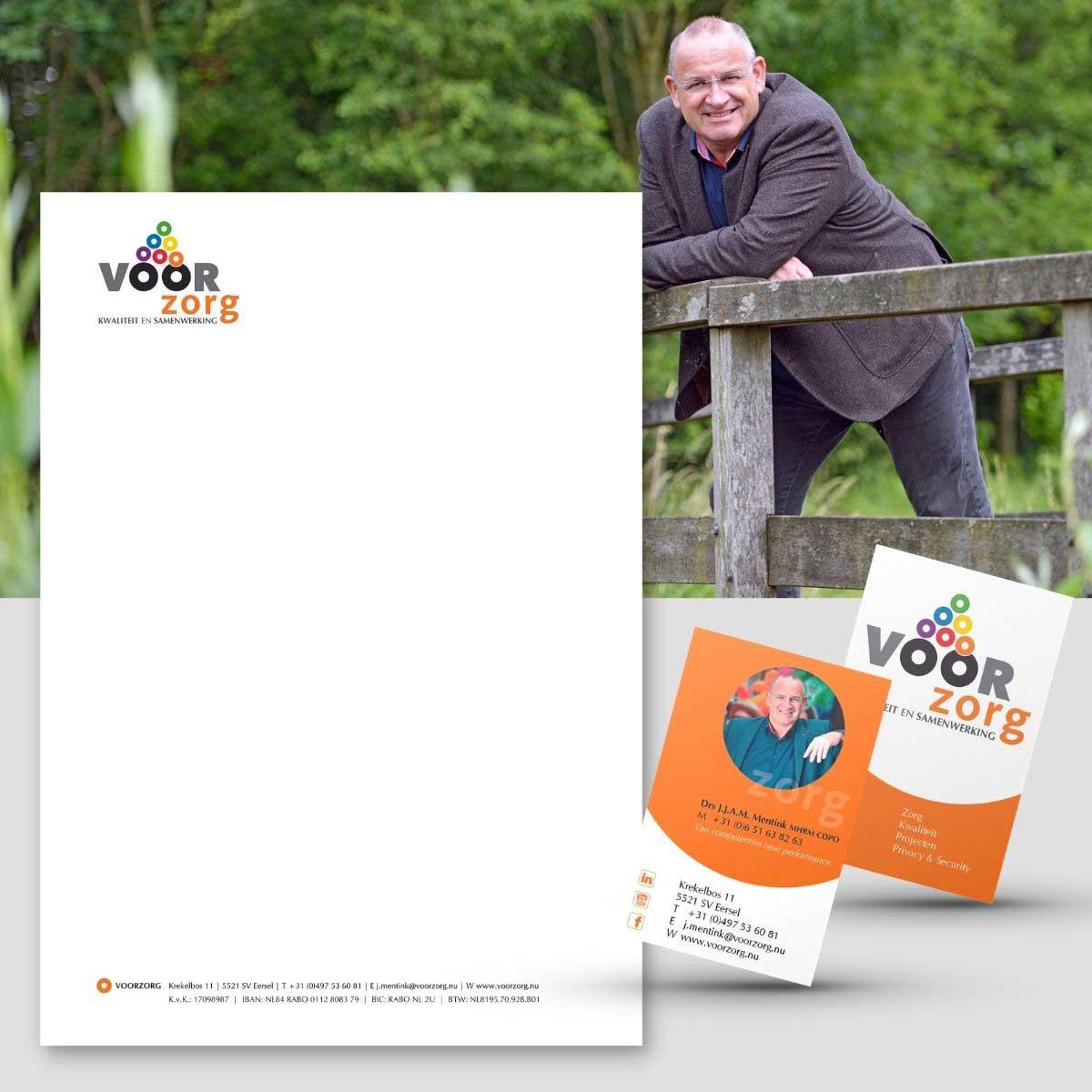 Profielfoto, briefpapier, visitekaartje voor Voorzorg.